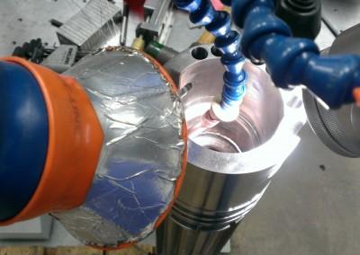 Detail View of Internal Column Welding