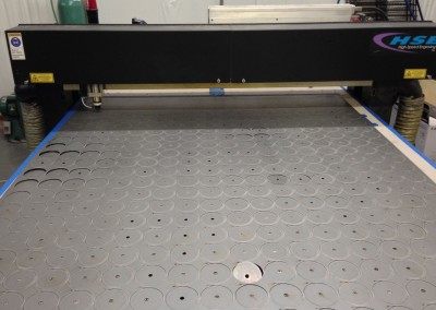 Laser Cutter with Nested Circular Components